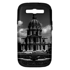 Vintage France Paris Church Saint Louis des Invalides Samsung Galaxy S III Hardshell Case (PC+Silicone)