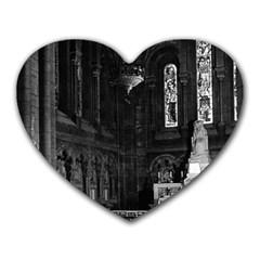 Vintage France Paris sacre Coeur basilica virgin chapel Mouse Pad (Heart)