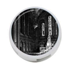 Vintage France Paris sacre Coeur basilica virgin chapel Single-sided 4 Port USB Hub (Round)