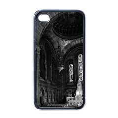 Vintage France Paris sacre Coeur basilica virgin chapel Black Apple iPhone 4 Case