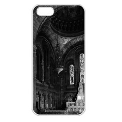 Vintage France Paris sacre Coeur basilica virgin chapel Apple iPhone 5 Seamless Case (White)
