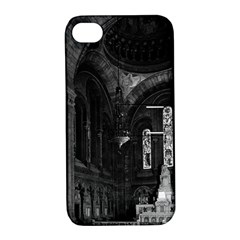 Vintage France Paris Sacre Coeur Basilica Virgin Chapel Apple Iphone 4/4s Hardshell Case With Stand