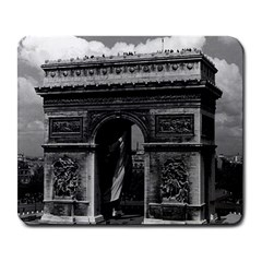 Vintage  France Paris Triumphal arch  Place de l Etoile Large Mouse Pad (Rectangle)