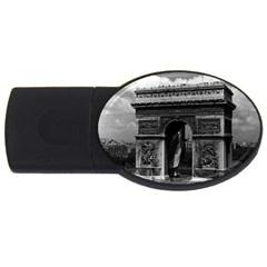 Vintage  France Paris Triumphal arch  Place de l Etoile 1Gb USB Flash Drive (Oval)