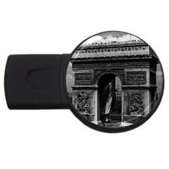 Vintage  France Paris Triumphal Arch  Place De L etoile 4gb Usb Flash Drive (round)