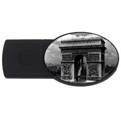 Vintage  France Paris Triumphal arch  Place de l Etoile 4Gb USB Flash Drive (Oval)