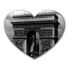 Vintage  France Paris Triumphal Arch  Place De L etoile Mouse Pad (heart)