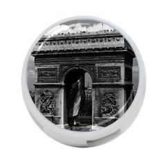 Vintage  France Paris Triumphal arch  Place de l Etoile Single-sided 4 Port USB Hub (Round)