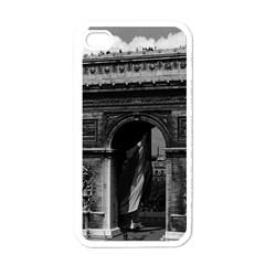 Vintage  France Paris Triumphal Arch  Place De L etoile White Apple Iphone 4 Case