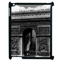 Vintage  France Paris Triumphal arch  Place de l Etoile Apple iPad 2 Case (Black)