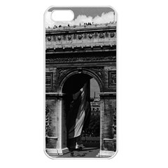 Vintage  France Paris Triumphal Arch  Place De L etoile Apple Iphone 5 Seamless Case (white)