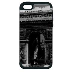 Vintage  France Paris Triumphal Arch  Place De L etoile Apple Iphone 5 Hardshell Case (pc+silicone)