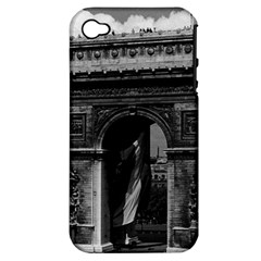 Vintage  France Paris Triumphal Arch  Place De L etoile Apple Iphone 4/4s Hardshell Case (pc+silicone)