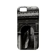 Vintage  France Paris Triumphal Arch  Place De L etoile Apple Iphone 5 Classic Hardshell Case (pc+silicone)