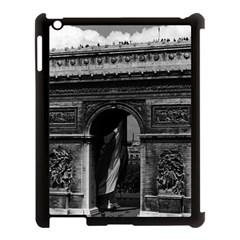 Vintage  France Paris Triumphal arch  Place de l Etoile Apple iPad 3/4 Case (Black)
