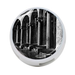 Vintage France Palace Of Versailles Colonnade Grove Single Sided 4 Port Usb Hub (round)