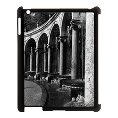 Vintage France palace of Versailles Colonnade Grove Apple iPad 3/4 Case (Black)