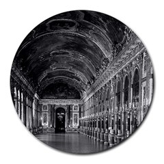 Vintage France Palace Of Versailles Mirrors Galery 1970 8  Mouse Pad (round)