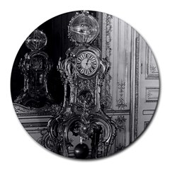 Vintage France Palace of Versailles astronomical clock 8  Mouse Pad (Round)
