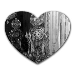 Vintage France Palace of Versailles astronomical clock Mouse Pad (Heart)