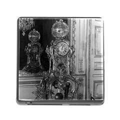 Vintage France Palace Of Versailles Astronomical Clock Card Reader With Storage (square)