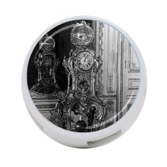 Vintage France Palace of Versailles astronomical clock Single-sided 4 Port USB Hub (Round)