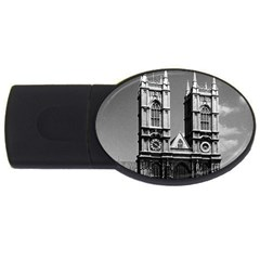 Vintage UK England London Westminster Abbey 1970 2Gb USB Flash Drive (Oval)