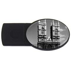 Vintage UK England London Westminster Abbey 1970 1Gb USB Flash Drive (Oval)