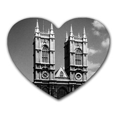 Vintage UK England London Westminster Abbey 1970 Mouse Pad (Heart)