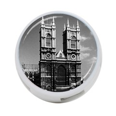 Vintage UK England London Westminster Abbey 1970 Twin-sided 4 Port USB Hub (Round)