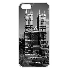 Vintage UK England London Westminster Abbey 1970 Apple iPhone 5 Seamless Case (White)
