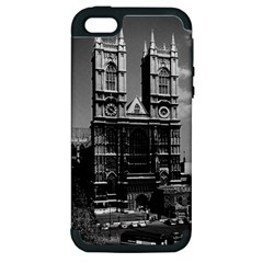 Vintage UK England London Westminster Abbey 1970 Apple iPhone 5 Hardshell Case (PC+Silicone)