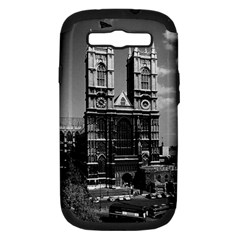 Vintage UK England London Westminster Abbey 1970 Samsung Galaxy S III Hardshell Case (PC+Silicone)