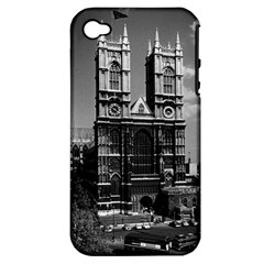 Vintage Uk England London Westminster Abbey 1970 Apple Iphone 4/4s Hardshell Case (pc+silicone)