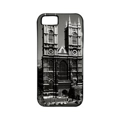 Vintage UK England London Westminster Abbey 1970 Apple iPhone 5 Classic Hardshell Case (PC+Silicone)