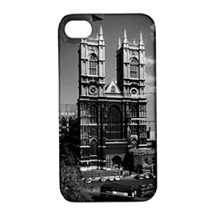Vintage Uk England London Westminster Abbey 1970 Apple Iphone 4/4s Hardshell Case With Stand