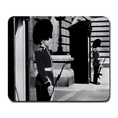 Vintage Uk England London Sentry At Buckingham Palace Large Mouse Pad (rectangle)