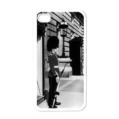 Vintage UK England London sentry at Buckingham palace White Apple iPhone 4 Case
