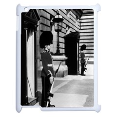 Vintage UK England London sentry at Buckingham palace Apple iPad 2 Case (White)