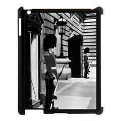 Vintage UK England London sentry at Buckingham palace Apple iPad 3/4 Case (Black)