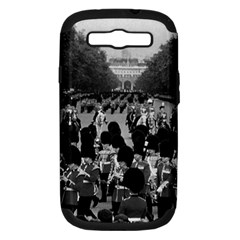 Vintage UK England the Guards returning along the Mall Samsung Galaxy S III Hardshell Case (PC+Silicone)