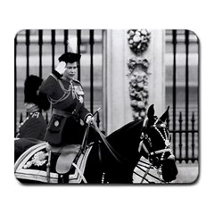 Vintage UK England  queen Elizabeth 2 Buckingham Palace Large Mouse Pad (Rectangle)