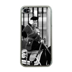 Vintage UK England  queen Elizabeth 2 Buckingham Palace Apple iPhone 4 Case (Clear)