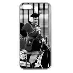 Vintage Uk England  Queen Elizabeth 2 Buckingham Palace Apple Seamless Iphone 5 Case (clear)