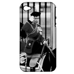 Vintage UK England  queen Elizabeth 2 Buckingham Palace Apple iPhone 4/4S Hardshell Case (PC+Silicone)