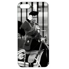 Vintage UK England  queen Elizabeth 2 Buckingham Palace Apple iPhone 5 Hardshell Case with Stand
