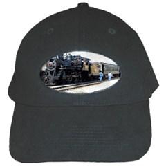 The Steam Train Black Baseball Cap