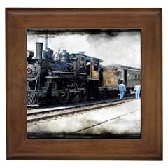 The Steam Train Framed Ceramic Tile