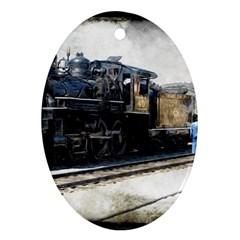 The Steam Train Ceramic Ornament (oval)