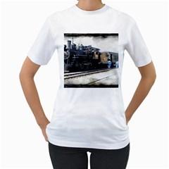 The Steam Train White Womens  T Shirt